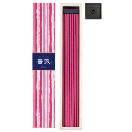 Rose fragrance Japanese Incense | Kayuragi by Nippon Kodo | Box of 40 Sticks & holder