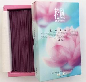 Ka-fuh Lotus Incense | Box of 430 Sticks by Nippon Kodo | Low Smoke