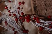 Corona navideña blanco y rojo