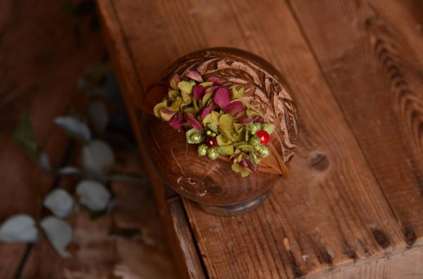 Tocado floral natural verde