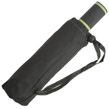 Performance Windfighter Auto Open & Close Folding Umbrella - Anthracite & Lime