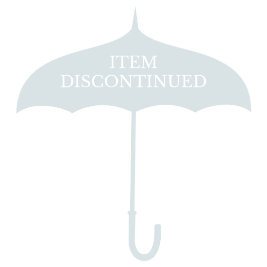 Lollipops Stripy Walking Length Umbrella - White/Raspberry